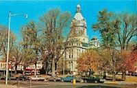 Rockville Indiana~Late Autumn Parke County Courthouse on Square~1960s Postcard