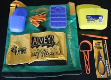 Alvey BAG 2 bait buckets & Belt, Scaler Hook remover, Worming pliers ,Tackle box