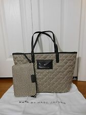 NWT Marc by Marc Jacobs Metropolitote Quilted Straw & Leather Tote Shoulder Bag