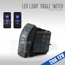 2X Blue Light Fog LED 12V 20A 10A 5-pin Rocker Toggle Switch Car Boat Waterproof