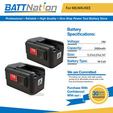 2 NEW 18 VOLT  Battery for MILWAUKEE 48-11-2230 2AH