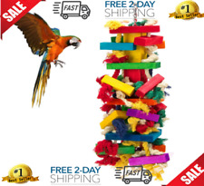 New listing Extra Large Bird Parrot Toys for Cockatoos African Grey Macaws Chewing Span New
