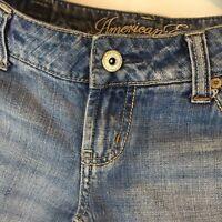American Eagle Women's Jeans Size 2 Short Distressed Denim Favorite Boyfriend