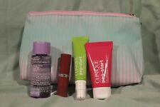 NEW WITHOUT TAGS CLINIQUE COSMETIC BAGS WITH PRODUCTS
