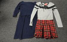 CREWCUTS/FLOWERS BY ZOE Lot Of 2 Blue Black Cotton Blend Dresses Sz XL/14 FF2837
