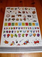 """Stickerbogen Piraten/ Buchstaben / """"Comic-Geräusche"""", neu, OVP, 384 Sticker"""
