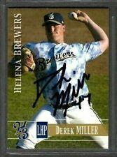 2005 Helena Brewers Team Set #47 Derek Miller Signed Autograph Baseball Card