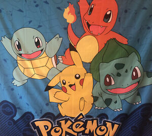 Nintendo Pokemon Poly Fabric Bright Shower Curtain or TAPESTRY PIKACHU & Friends