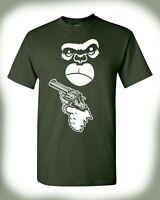 Gorilla Strapped T-Shirt Arm The Animals Funny Guerilla Warfare