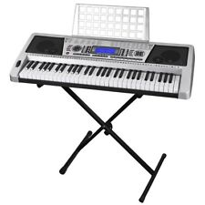 61 Key Electric Music Keyboard Piano 345 Timbres Organ Talent Practise W/ Stand