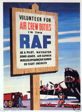 WW2 RAF Fighter Command Battle of Britain 75th Volunteers poster print