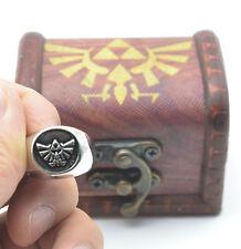 Legend of Zelda Winged Triforce Ring + wood box