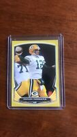 2014 Bowman Aaron Rodgers Gold Paper 55/75 Green Bay Packers HOF SP!