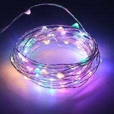 2m 20LEDs Colorful Copper Wire String Fairy Light for Xmas w/CR2032 Battery