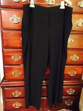 Woman's Solid Black Dress Pants Plus Size 18W