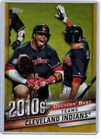 Cleveland Indians 2020 Topps Decades Best 5x7 Gold #DB-86 /10 Indians