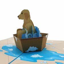 Puppy Dog Bath Time 3d pop up card