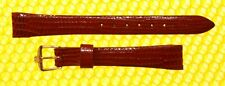 13mm Vintage OMEGA Real-Lizard Leather Watch Strap Band RED <NWoT>