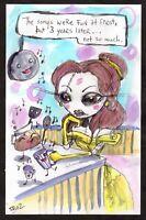 EMI BOZ Art outsider tim burton lowbrow dark Disney pop DEPRESSED PRINCESS BELLE