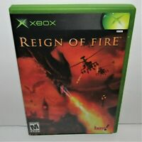 Reign of Fire (Microsoft Xbox, 2002) Complete Tested & Working