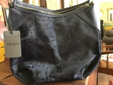 New With Tags MARGOT Navy Blue Calf Hair Leather Shoulder Bag