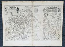 1575 Abraham Ortelius Antique Maps of Loire Valley, River & Alliers River France