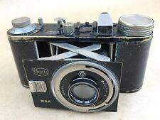 Krauss Peggy G.A Vintage 1930s Black Camera w/ 5cm f/2.8 Tessar - Rare
