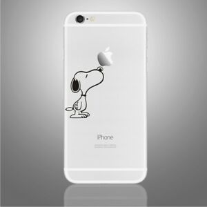 iPhone 6/6s/7/8/X Snoopy sniffing Apple decal sticker art (NEW)