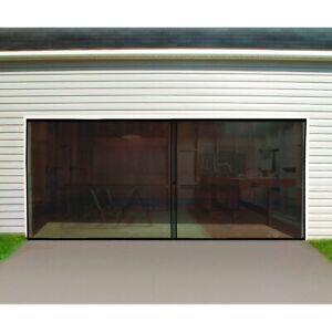 NEW Magnetic Garage Door Screen for 2 Car 16x7 FT Double Door Mesh Hook and Loop