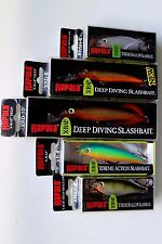 Lot of 5 Authentic RAPALA X-RAP Lures Assorted