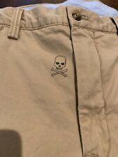 NWT Polo Ralph Lauren 31 x 30 Skull Crossbones OG Club Bulldog Tan Khaki Pants