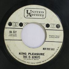 Jazz 45 King Pleasure - This Is Always / Mean To Me On United Artists Records