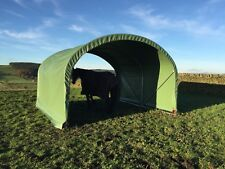 4m x 4m PVC Steel Equine Field Shelter | Perfect for Horses and Shade Housing