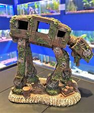 Medium Space Robot Dog Aquarium Fish Tank Ornament AT-AT Star Wars Style Decor
