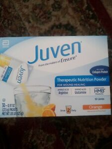 Juven Therapeutic Powder Drink Mix. Orange 30 pack box exp. 04 1 2022.  20 avail
