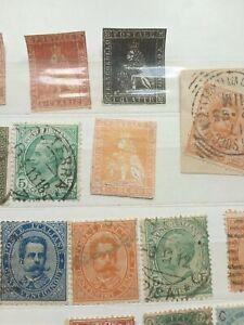 Lotto francobolli antichi stati un soldo filigrana corona fournier rare Toscana