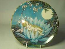 Royal Worcester FAIRY ON THE WATER LILY Plate Enchanted Fairy Glade Collection