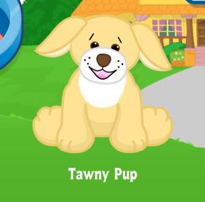 Webkinz Tawny Pup Virtual PET Adoption Code Only Messaged Webkinz Tawny Pup Babe