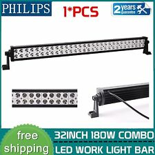 PHILIPS 32inch 180W LED Work Light Bar Spot Flood Combo Offroad Driving SUV 4WD