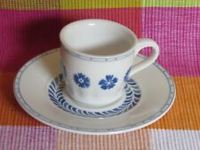 V&B VILLEROY & BOCH - FARMHOUSE TOUCH BLUEFLOWERS - Mokka - / Espressotasse + UT