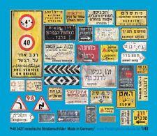 Peddinghaus 1/48 Real Israeli Road / Traffic Signs and Street Name Plates 3427