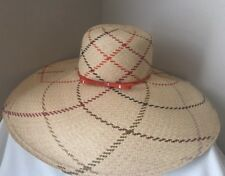 COACH Women Straw Hat XWide Brim Beach Hat EUC