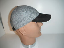 60044b438e0 Size  Adjustable. Woolrich Donegal Tweed style Baseball Cap Hat leather  brim Adjustable new !