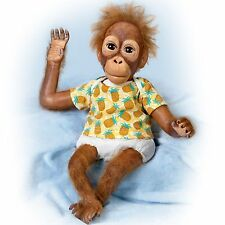 Baby Juma Realistic 16' Orangutan Baby Doll by Ashton Drake