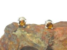 CITRINE  Sterling Silver 925 Gemstone Earrings / STUDS - 5 mm - Gift Boxed