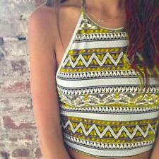 Womens Tank Tops Backless Bustier Bra Vest Crop Bralette Shirt Blouse Cami Vast