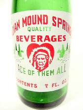 vintage ACL Soda POP Bottle: INDIAN MOUND SPRIGS of BRIDGEVILLE, PA .- 7 oz