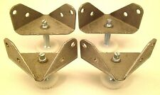 4 STEEL CORNER BRACKETS W/ Adjustable FEET LEGS Furniture leveling GLIDES NC