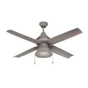 """Craftmade 52"""" Port Arbor Ceiling Fan, Aged Galvanized - PAR52AGV4"""