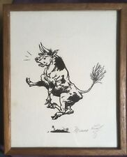 The Story of Ferdinand the Bull-SIGNED Robert Lawson print by Munro Leaf -framed